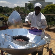 Centurion Lake Hotel chef cooking with solar