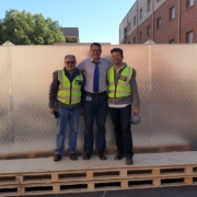 Henning Holm and team during construction of the solar district heating for student residences at WITS University, Johannesburg